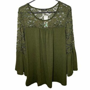 Papermoon Bevee Lace Detail Knit Top